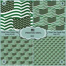 Siser HTV Printed HTV American Flag Patterned HTV Adhesive Vinyl 822