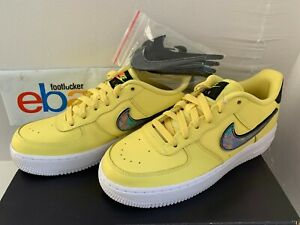 Astrolabio desenterrar Canoa  Nike Air Force 1 LV8 3 Yellow Pulse Removable Swoosh Black AR7446-700 Size  4Y-6Y | eBay
