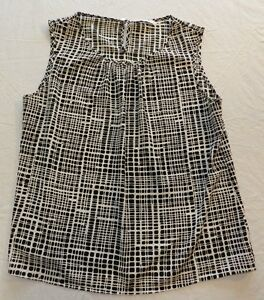 Womens shirt CALVIN KLEIN size XL sleeveless blouse top (ba93)