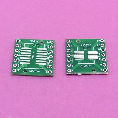 PCB Converter Plate Board SOP14 SO14 TSSOP14 MSOP14 to DIP14 Adapter B49