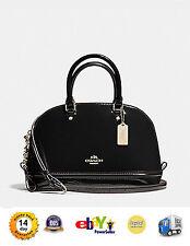 New Coach F55445 Mini Sierra Satchel in Patent Leather Handbag Crossboday Black