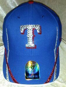 Details about Texas Rangers Women s 47 Brand Rhinestone Bling MLB Hat Cap  ~NEW~ 7dd927c5d7b