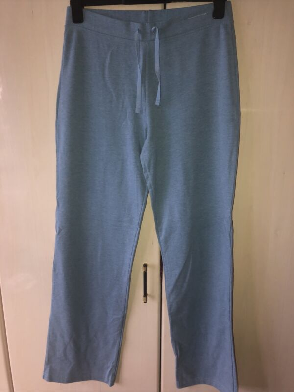 Knowledgeable M&s Blue Jogging Bottoms Wide Leg. Size 12 Long Rich And Magnificent
