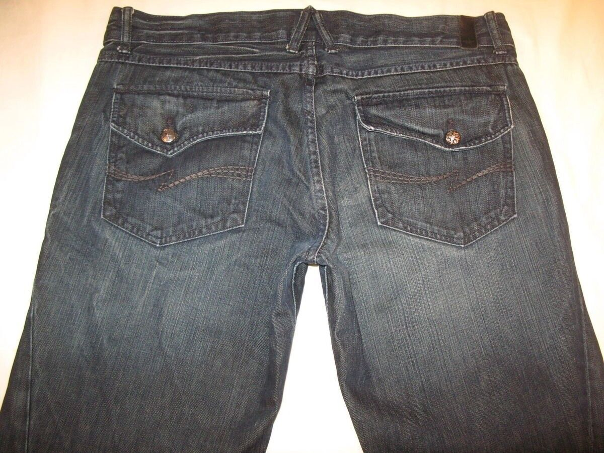 People's Liberation Men's Jeans Sean Engineered Bootcut Dark 38 X 34