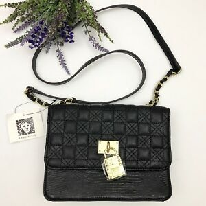 Image Is Loading Anne Klein Wear It Well Black Quilted Satchel