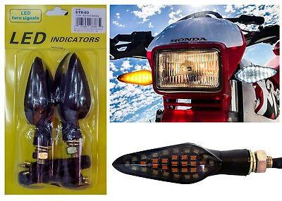 Motorcycle 12V LED Amber Front Turn Signal Lights Running Lights for