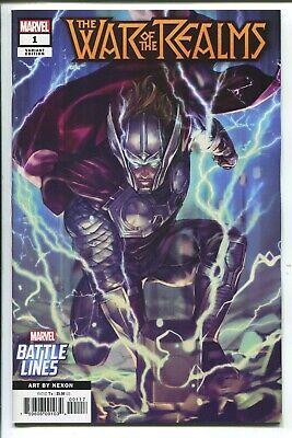 OF 6 WAR OF REALMS #1 2019  NEXON  BATTLE LINES VARIANT COVER MARVEL COMICS NM