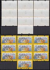 Bund ATM 4.1 TS 1/ VS 1 gest. 2002  kpl. mit Zählnummern !! Vollstempel Hamburg