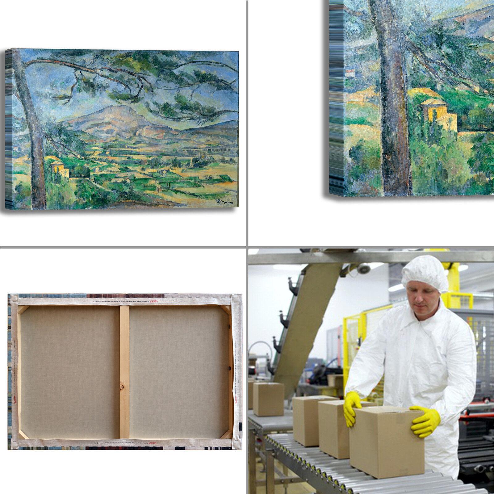 Cezanne sainte mont sainte Cezanne victoire 1 quadro stampa tela dipinto telaio arRouge o casa 9917fb