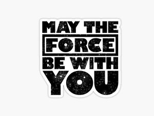 Star Wars May The Force Be With You Rogue One Jedi Sticker Decal Car