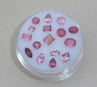 Pink Tourmaline Gem Mix Loose Parcel Over 3 Carats