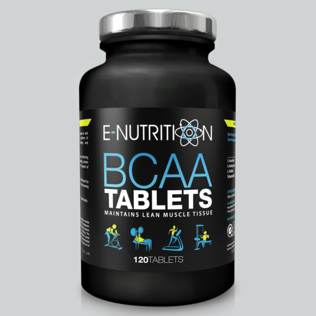 BCAA 120 TABLETS - BRANCHED CHAIN AMINO ACIDS - RECOVERY - LEUCINE - E-NUTRITION