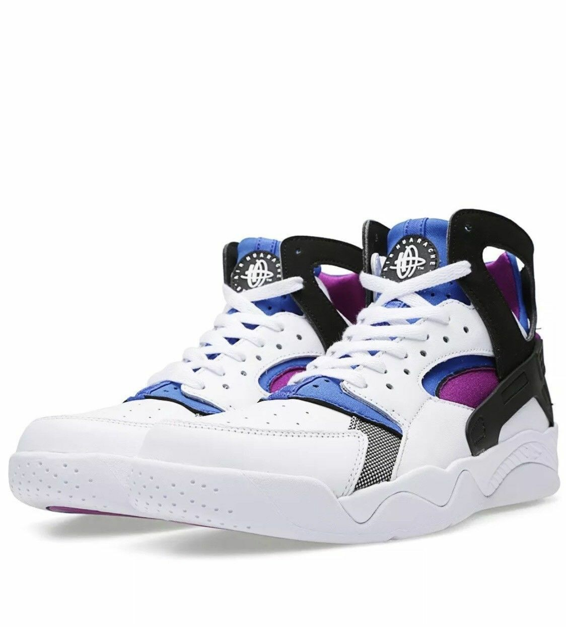 Nike Air Flight Huarache Blueberry PRM QS White Lyon Blueberry Huarache [686203-100] White sz 10 24f75a