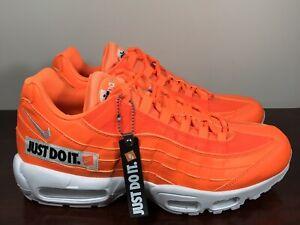 a3e39f5e57 Men's Nike Air Max 95 SE Just Do It Pack Orange/White AV6246-800 ...
