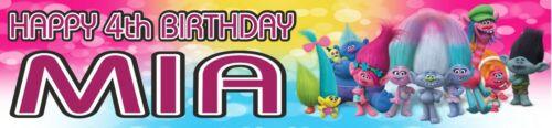 Personalised Trolls Glossy  Birthday Banners