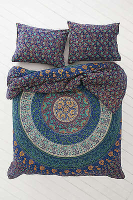 Twin Hippie Indian Tapestry Blue Mandala Throw Wall Hanging Gypsy Boho Bedspread