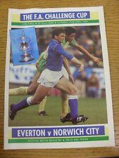15/04/1989 FA Cup Semi-Final: Everton v Norwich City [At Aston Villa] (creased,
