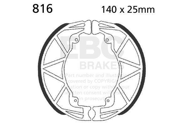 "FIT BENELLI Adiva 125 (12"" front wheel 2000 EBC Plain Shoe Rear Left"