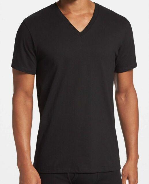 $55 Calvin Klein Undershirt CK Men's Black M4065 Classic V-Neck T-Shirt Size M