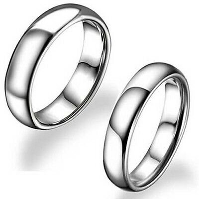 8mm/6mm/5mm/3mm Silver Tungsten Carbide His Her Wedding Band Ring Size 5-14 Half