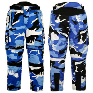 Cordura-Textile-Motorbike-Camo-Pants-For-Bikers-Breathable-Waterproof-Pant-Blue