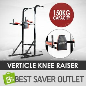 Knee-Raise-Power-Tower-Chin-Up-Bar-Push-Pull-Dip-Station-Exercise-Home-Gym