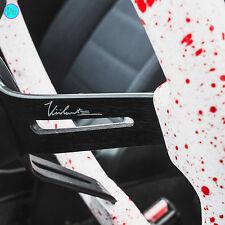 """VIILANTE 2"""" DISH 6-HOLE STEERING WHEEL *RED BLOOD SPLATTER* BLACK SPOKE - 350Z"""