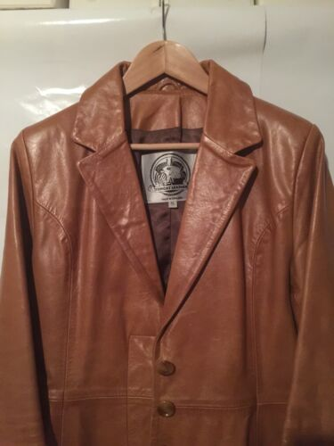 Ladies Tomcat Coat Tan Leather Xl 6Fwwaqzpx5