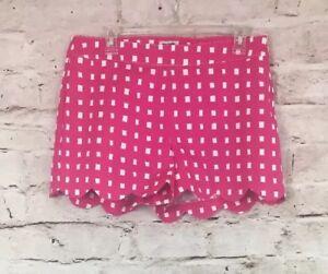 Women/'s Mud Pie Serena Scallop Shorts Size Medium Color White Cotton Blend