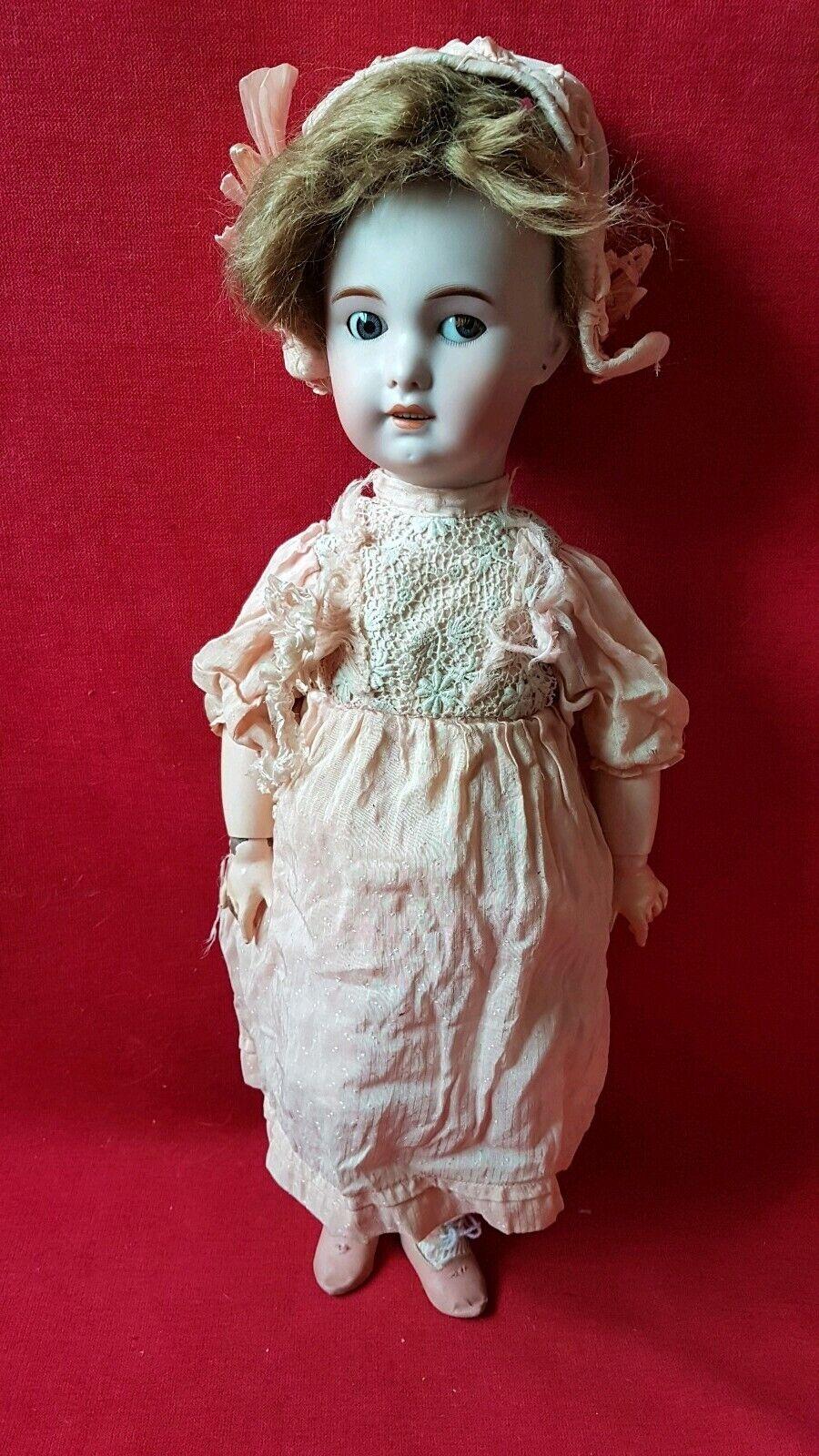 1890 - Vêtement pour Poupée SFBJ   Jumeau   Bébé Bru Talla 10 - Robe soie
