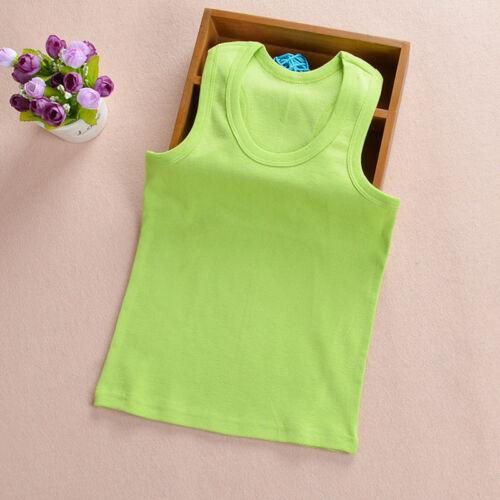 Toddler Kids Girl Boy Summer Sleeveless Camisole Vest Tank T-shirt Top Tee Shirt