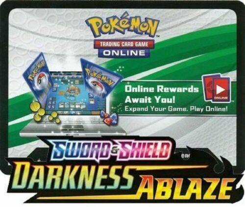 50 Darkness Ablaze Booster Online Codes  Sword /& Shield PTCGO Pokemon EMAILED