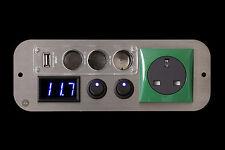 Ford Transit Campervan Green 240v,12v Switches,3 Way USB Voltmeter