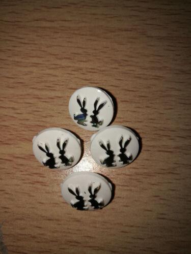 Rabbit//Bunny Iridescent buttons shank back baby children size 14mm novelty
