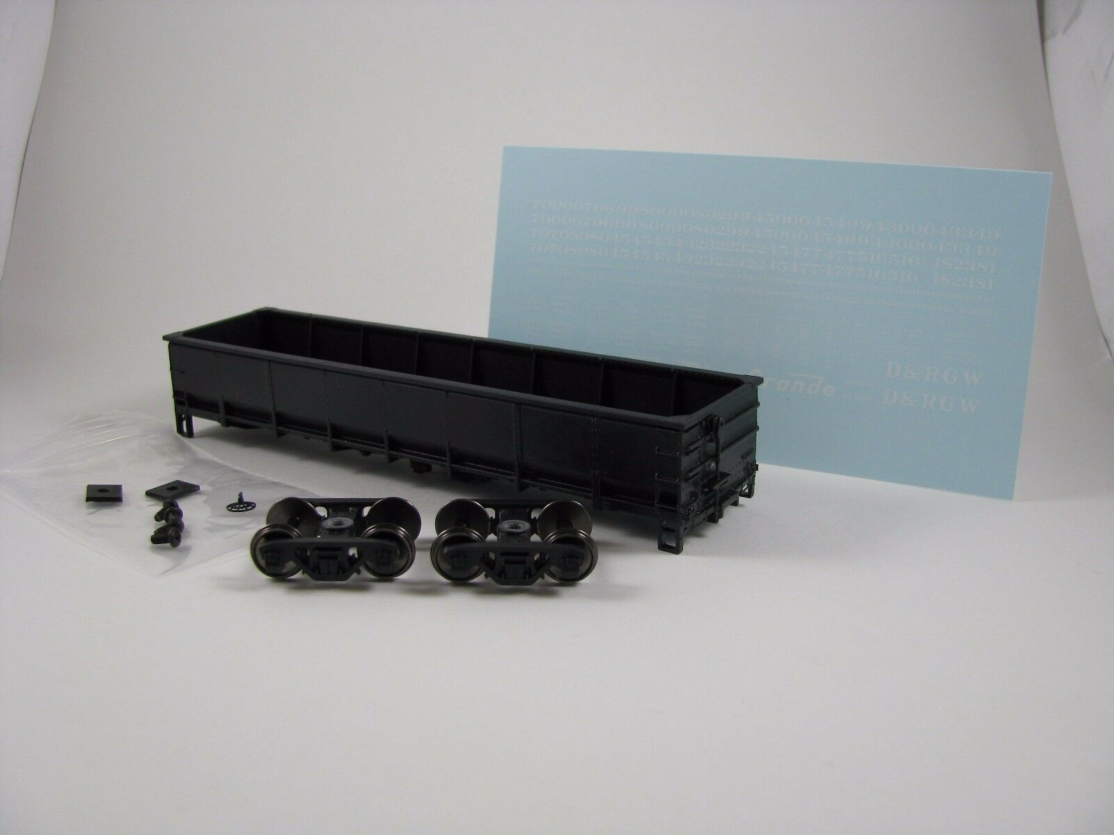 HO Scale 3D Printed D&RGW Offset GS Gondola 42ft (45k Series) Single Kit