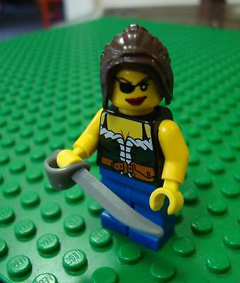Lego Pirate with Blue Vest Minifig Minifigure 6253 City Pirates Musket Bandana
