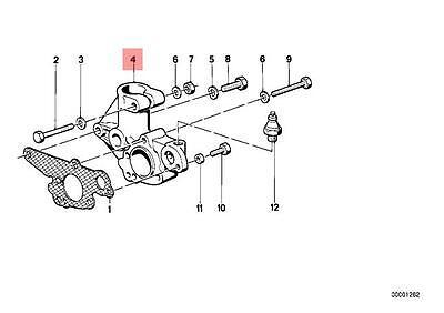 Genuine BMW 02 E12 E21 E28 E30 Ignition Distributor Flange OEM 12111252932