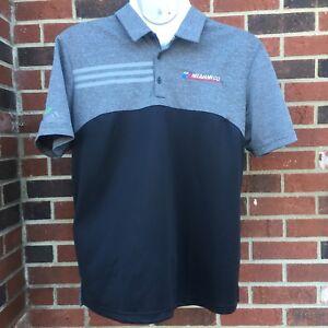 Adidas-Golf-Mens-Short-Sleeve-Polo-Shirt-Size-XL-Black-Gray-UPF-50-Neumann-Co