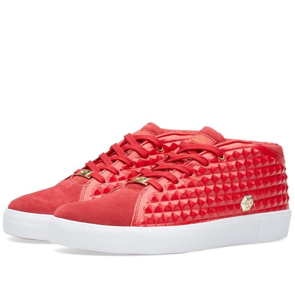 Nike lebron xiii lo stile di vita 41 palestra rosso rosso palestra / bianco oro metallico 819859-600 578297