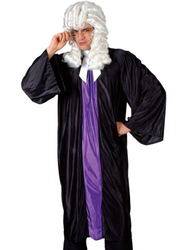 XL High Court Judge Barrister Law Gown Robes Men/'s Fancy Dress Costume Std