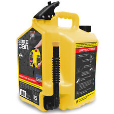 Surecan 5 Gallon Controlled Flow Diesel Fuel Can With Rotating Nozzle Yellow