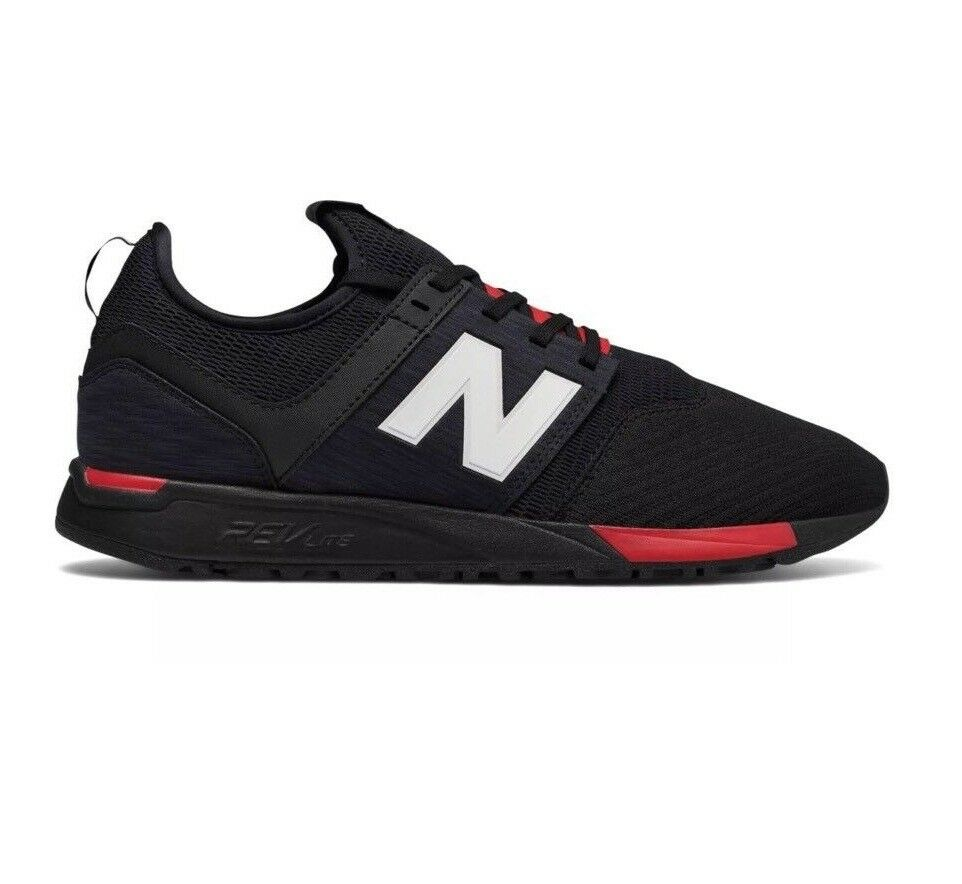New Balance 247 Black Red RevLite Men's Size 12 Sneakers shoes MRL247BC
