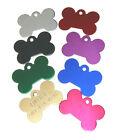 Custom Engraved Pet ID Tags for Dog Bone Shape Tag small FREE SPLIT RING