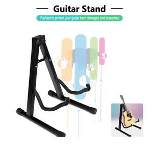 Folding Electric Acoustic Bass Guitar Stand Floor Rack Holder Black