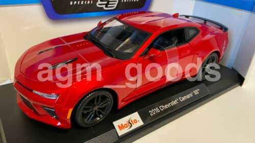 Escala 1:18 Maisto Chevrolet Camaro SS 2016 Rojo-Diecast Modelo Coche