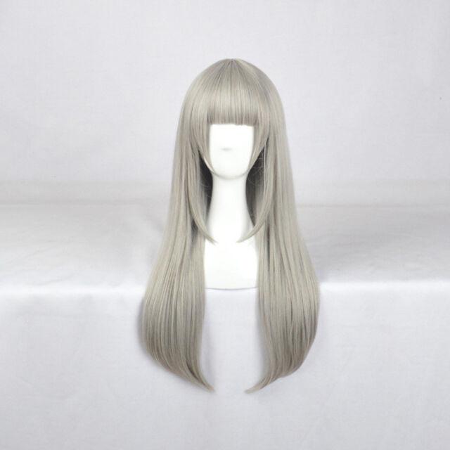 Inuyasha Wig Silver Grey Gray Hair Cosplay Wigs + Wig Cap ...