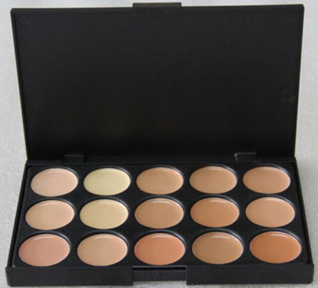 15 Colors Face Powder Cream Pro Contour Makeup Concealer Palette Camouflage AE