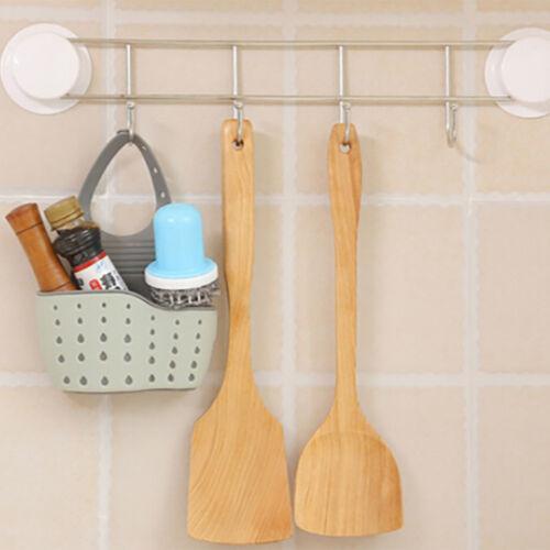 Sink Shelf Hanging Soap Sponge Drain Rack Kitchen Holder Storage Cup Suction