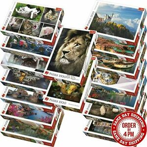 Trefl 1500 Piece Jigsaw Puzzle Animals Landscapes Cities