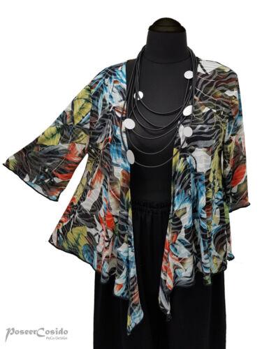 LAGENLOOK Bolero Shirt-Jacke Überwurf  ❷Fb  XL-XXL-XXXL 44 46 48 50 52 54 56 58